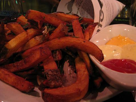 bar cento fries in duck fat with sauces PD