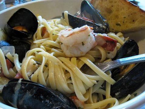 seafood linguini with mark
