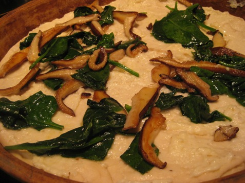 007spinach and shiitake meatless monday pizza PD