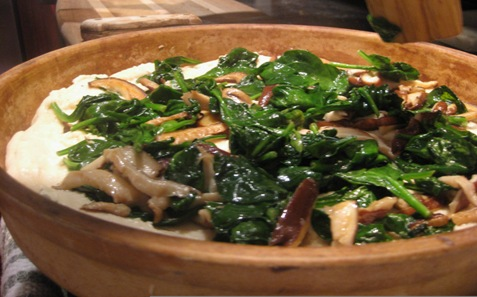 020Shiitake and spinach pizza PD