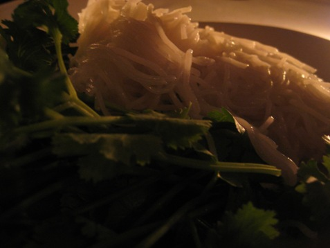053vermicelli with fresh cilantro and basil