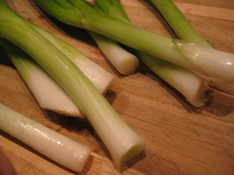 009fresh green onion garnish