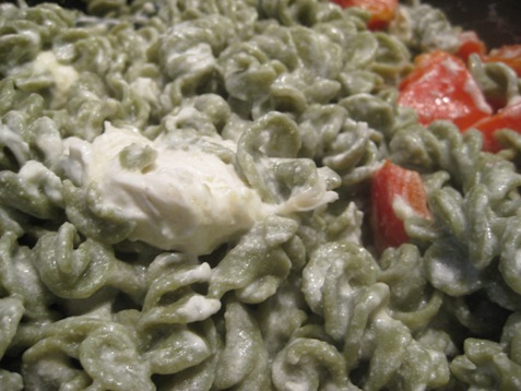 010spinach pasta with goatcheese sauce