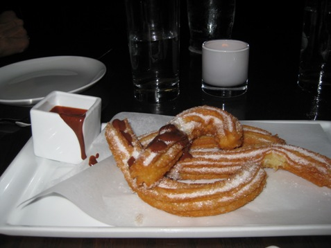 074churros with spicy chocolate sauce sra. Martinez