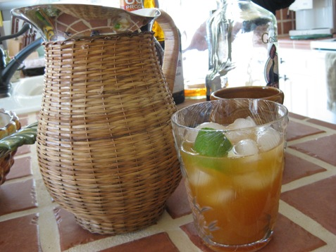 134Mai Tai glass and pitcher